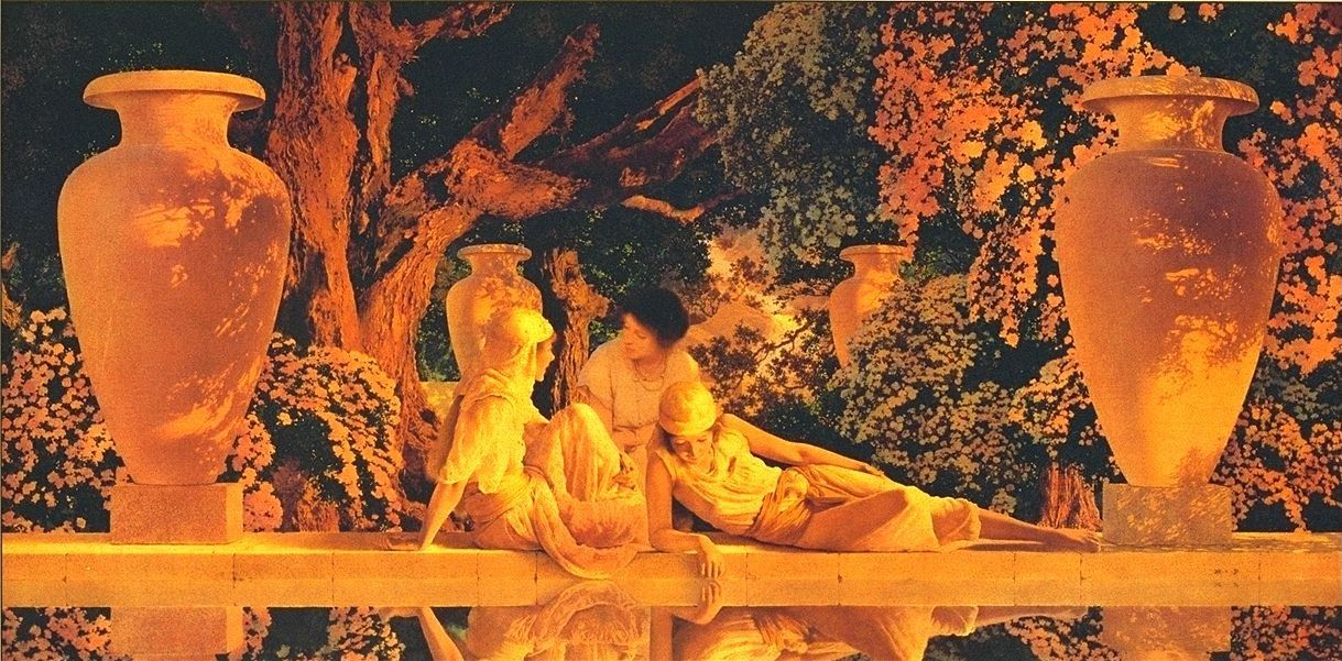 Maxfield Parrish The garden of allah