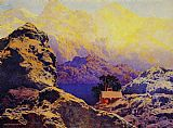 Maxfield Parrish Getting away from it all painting