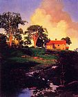 Maxfield Parrish Hunt Farm painting