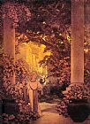 Maxfield Parrish Land of make-believe painting