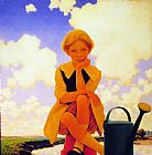 Maxfield Parrish Mary, Mary Quite Contrary painting