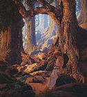 Maxfield Parrish The Enchanted Prince painting