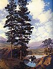 Maxfield Parrish Thy Templed Hills painting