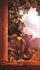 Maxfield Parrish daybreak detail painting
