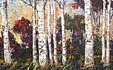 Maya Eventov Bountiful Birches painting