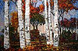 Maya Eventov Glorious Day in the Birches painting