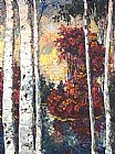Maya Eventov Lake of Birches painting