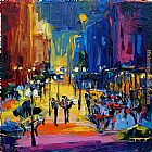 Maya Green City Night Life painting