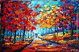 Maya Green Colorful Fall painting