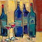 Maya Green Enjoy your wine painting