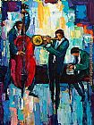 maya green Paintings - Especially Jazz
