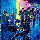 Maya Green Jazz Upstairs painting