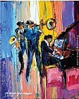 Maya Green Jazz for Lovers painting