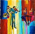 Maya Green Jazz in Paris painting