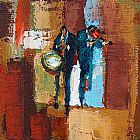 Maya Green Live Jazz Music painting