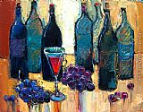 Maya Green Old fashioned wine party painting