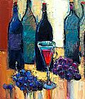 Maya Green Old wine bottles painting