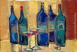 Maya Green One good wine dinner painting