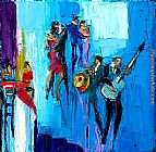 Maya Green Rumba Blues painting