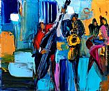 Maya Green Swing jazz painting