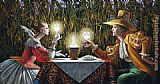 Michael Cheval Delighted by Light II painting