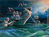 Michael Cheval Harbor of Hope painting