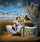 Michael Cheval Melody of Rain painting