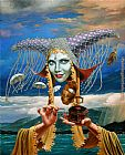 Michael Cheval Melody of the Rain painting