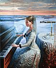 m ditlef sonata Canvas Prints - The Cold expanse Sonata