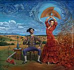 Michael Cheval Wind of Change painting