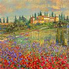 country village ii Paintings - Provencal Village XI