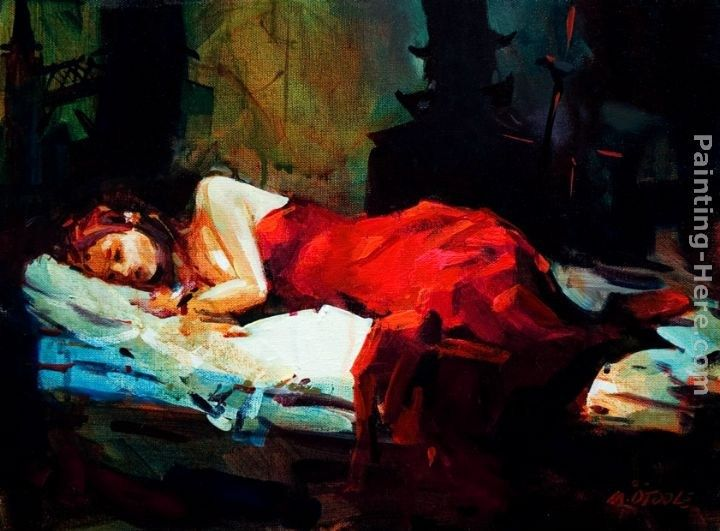 Michael O'Toole Sleeping Lady in Red