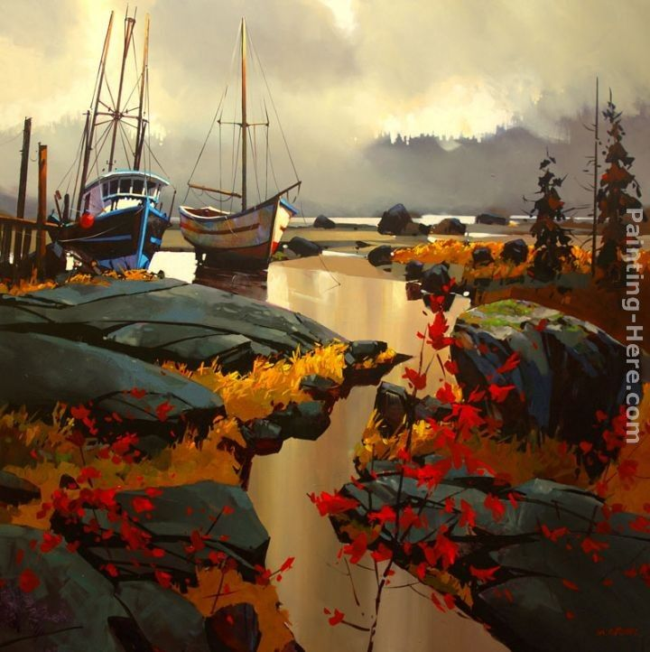 Michael O'Toole Two Boats at Skidegate
