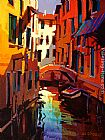 Michael O'Toole A Canal in Venice painting