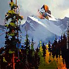 Michael O'Toole Between Sky and Mountain, Yoho National Park painting