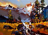 Michael O'Toole Garibaldi Hike painting
