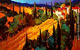 Michael O'Toole Golden Fields of Tuscany painting