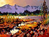 Michael O'Toole Kootenay Colours painting