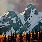 Michael O'Toole Light Peaks, Tantalus Range painting