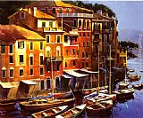Michael O'Toole Mediterranean Port painting