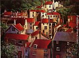 Michael O'Toole Rooftops II painting