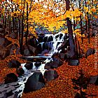 Michael O'Toole Small Creek in Autumn painting