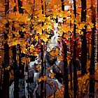 Michael O'Toole Tangled Autumn painting