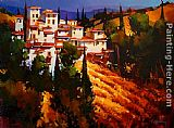 Michael O'Toole Toscana Hillside painting