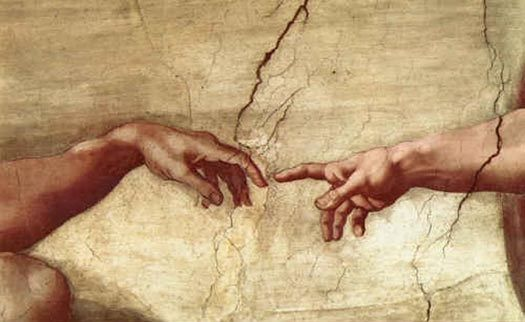 Michelangelo Buonarroti Creation of Adam hand