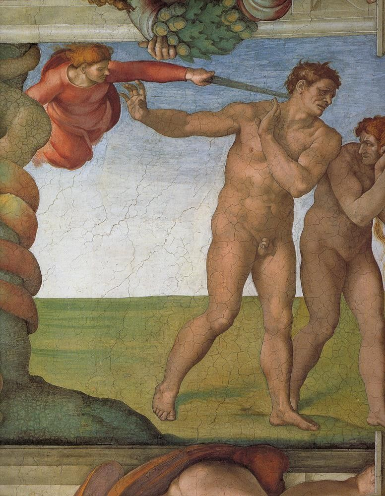 Michelangelo Buonarroti Genesis The Fall and Expulsion from Paradise The Expulsion