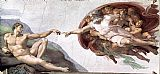 Michelangelo Buonarroti Creation of Adam painting