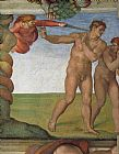 Michelangelo Buonarroti Genesis The Fall and Expulsion from Paradise The Expulsion painting