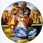 Michelangelo Buonarroti The Holy Family with the Infant John the Baptist painting