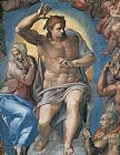 Michelangelo Buonarroti The Last Judgement Christ the Judge painting